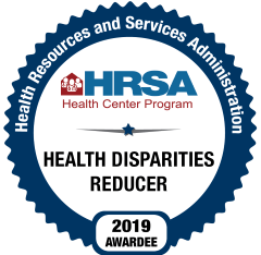 HRSA Health Disparities Reducer Logo